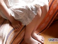 Hairy Japanese Teen Shaves Her Thicket