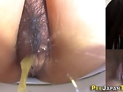 Asian nubiles muff pissing