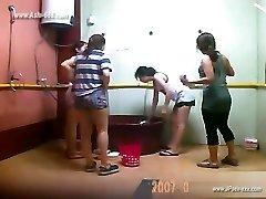 ###पिंग चीनी लड़कियों स्नान