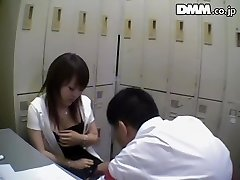 Ugly Japanese babe gargles dick in spy webcam Japanese sex video
