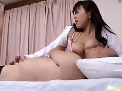 Japanese therapist is horny for cock