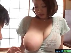 Busty japanese girl fumbled and fucked 2/4