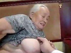 80yr old Japanese Granny Still Enjoys to Fuck Uncensored