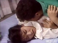 Cute Japanese dame is getting nailed by tongue and hard shaft