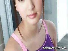 Steamy real asian model showering  part4