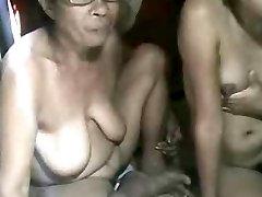 FILIPINA GRANDMA AND NOT HER GRANdaughter FLASHING ON WEB CAM