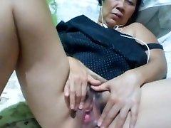 Filipino granny 58 fucking me ditzy on cam. (Manila)1