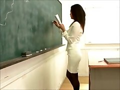 sexy japanese teacher pummeling schoolgirl
