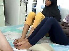Asian teen feet wank