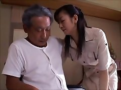 japanese wife widow takes care of dad in law  Two