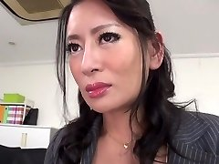 Greatest Japanese woman Rei Kitajima in Crazy stockings, blowjob JAV clip