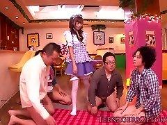 Costume Play nippon teen blowbanging until bukkake