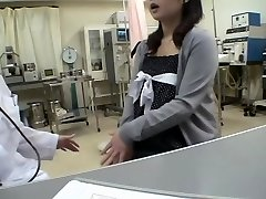 Buxom doc ravages her Jap patient in a medical fetish video