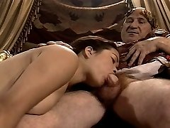 Asian Youthful Girl Casting made by Older & Ample Grandpa
