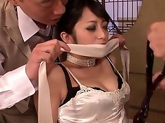 Fancy cutie gets had threesome fuck after dinner