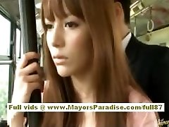 Miho Maeshima Chinese girl gets a cum explosion on her glasses