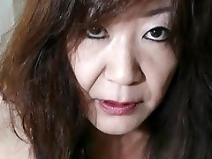 Chinese Granny shows Hooters and Pussy