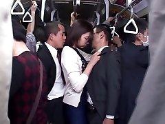 Yuu Shinoda, Yuka Kojima, ASUKA 2, Yuna Shiratori in Frustrated Housewife on the Bus 1 part 4