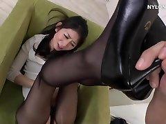next door neighbour in stockings high heels