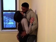Korean student making out with her first-ever black stud.