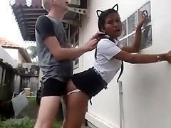 White Guy Romps His Asian Maid