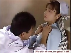 Asian Nurse drilled by therapist