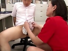 Japanese Nylon Thong Hand-job Cum