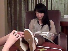 Asian Stocking Tickling