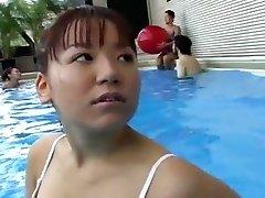 Teen Girls Swimming Pool Climax