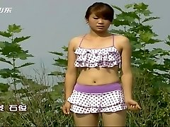 Asian TV game show nipple slips