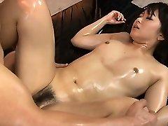 Horny babe vagina fondled and fucked hard in threesome