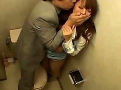 Japanese Woman Boinked in the Bathroom