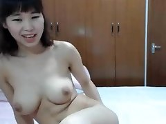 chinese big boob finger her culo