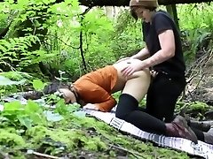 Lesbian Outdoor Rain forest Strap-On Nail