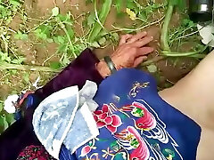 japanese granny in nature