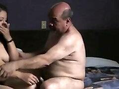 Indian prostitude girl boned by oldman in hotel room.