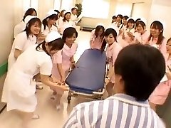 Asian nurses in a scorching gang-fuck