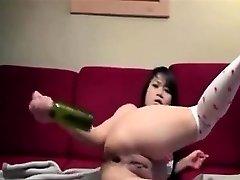 AmateurHot Japanese Bottles Her Arse On Cam