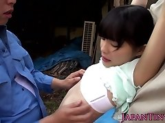Lil asian outdoors fingered