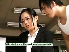 Sora Aoi innocent naughty asian assistant likes getting fucked at break time