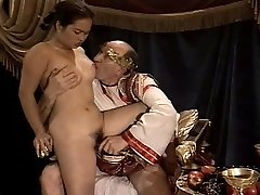Asian Young Girl Casting made by Older & Enormous Grandpa