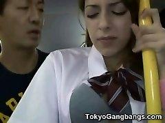 White Teen Public Bus Lovemaking in Japan!
