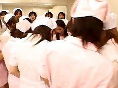 Asian nurses enjoy hookup on top