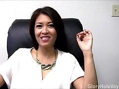 Asian Cougar Gloryhole Interview Oral Pleasure