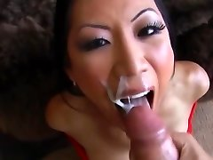 Asian Biotch TL Sloppy Deepthroat Blowjob