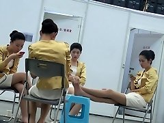 Candid Chinese Hostess Nylon Soles