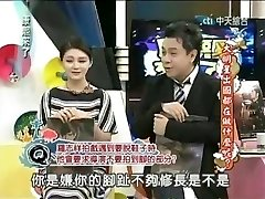 Chinese actress in a broadcast opening up toes