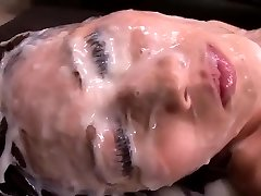 Japanese Nymph - Huge Amount Of Cum On Her Face