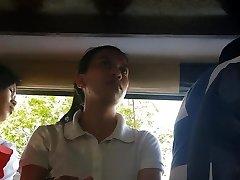 Boso sa jeep. HRM student...SARAP ng white thong mo miss!