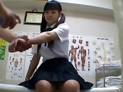 Japanese college girl (College-aged+) fucked during medical exam